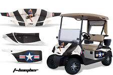 Golf Cart Graphics Kit Decal Sticker Wrap For 2 Seat EZ-Go TXT 94-13 TBOMBER BLK