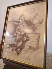Original, Signed, Pen & Ink ,Maritime Drawing
