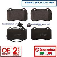 OEM SPEC FRONT REAR DISCS PADS FOR SEAT LEON 1.8 TURBO CUPRA R 225 BHP 2003-06