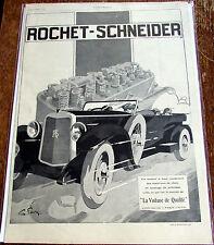 ROCHET SCHNEIDER / G FAVRE / QUALITE / 1926  /  AUTOMOBILE  PUBLICITE ANCIENNE