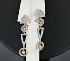 Pendientes de joyería con diamantes omegas de oro blanco diamante