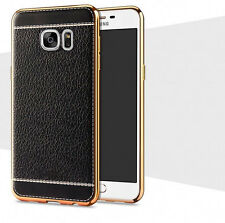 Luxury Ultra-thin Leather Soft TPU Back Case Cover For Samsung Galaxy S8 S7 edge