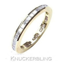 Eternity Yellow Gold Very Good Natural Fine Diamond Rings
