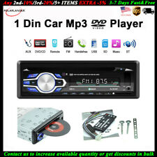 Single 1 Din Car DVD CD MP3 Player In-dash FM Radio Audio BT Stereo USB/AUX/SD
