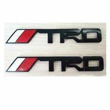 FOR 2X Toyota Tundra Tacoma 4Runner Rear MATTE BLACK TRD Emblem TailGate Fender