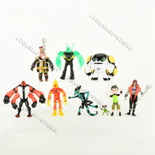 Ben 10 Action Figures Toy 9 PCS Set: Tennyson Four Arms Heatblast Cake Toppers