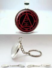 Silent Hill - Seal of Metatro - Silver Tone Photo Glass Dome Keyring