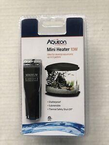 Aqueon Aquatic Mini Heater 10W for Aquariums up to 5 Gallons- Fish tank- NEW 🐠