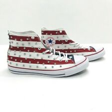 Converse CTAS Hi Top Studded USA Flag Red White Blue Sneakers Men's 11 160994C