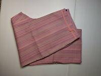 NEW JH Collectibles Pink Striped Stretch Cotton Capri Women 14 NWT Closet212*