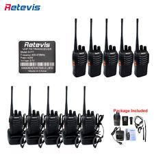 10x Retevis H777 Walkie Talkie 16CH UHF400-470MHz 5W Two Way Radio& Earpiece US
