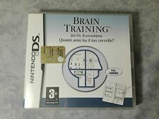 BRAIN TRAINING NINTENDO NDS DS DSi 2DS 3DS PAL ITA ITALIANO COMPLETO COME NUOVO