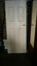 Victorian door 74.5 cm w 190cm h with brass handles
