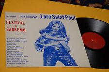 LARA SAINT PAUL LP FESTIVAL DI SANREMO 1971 PRIMA STAMPA ORIGINALE
