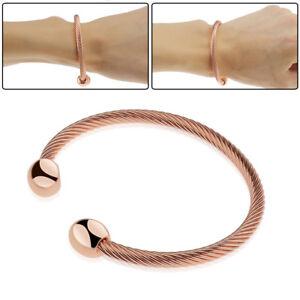 Men Women Magnetic Copper Bracelet Therapy Arthritis Healing Energy High Quality