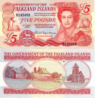 Falkland Islands 5 £ Pounds, 2005, British Administration P-17a,UNC> QEII