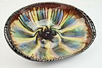 50er Vintage Anbietschale Schale Obstschale Keramik Majolika Schüssel 50s