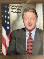 President Bill Clinton Authentic Autographed 8x10 Photo Official Portrait
