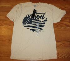 NWT Mens AMERICAN APPAREL Tan United Graphic T-Shirt Size M Medium