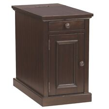 Ashley Laflorn Chair Side End Table Power Extra Storage Sable Finish Living Room