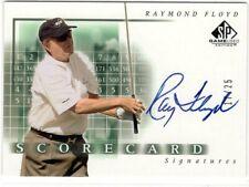 RAYMOND FLOYD 2002 SP Game Used SCORE CARD Signatures AUTO #17/25 RARE!