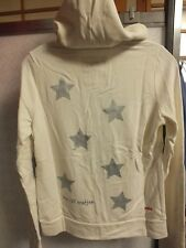 """Peace Love World Hoodie """"We All Matter"""" Off Wht/Black Size Sm NWT"""