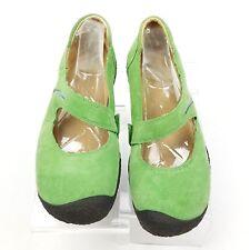 Keen Green Suede Mary Jane Comfort Shoes Women's 7M Elastic