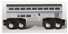 Wooden Amtrak Train Superliner Coach Car 4.25 inch Compatible with other RR