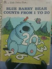 BLUE BARRY COUNTS FROM 1 TO 20 Little Golden Book 1991 G/C