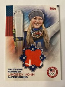 2014 Topps U.S. Olympic Team Relics #ORLVO Lindsey Vonn 2 Color Skiing  OR-LVO