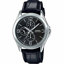MTP-V301L-1A  Black Casio Men's Watches Casio Analog Leather Band