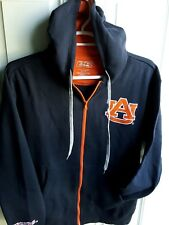 Auburn Tigers e5 Full Zip Embroidered Hoodie w/Draw Cord Size Large