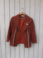 Vintage Hermes Womens Riding Coat Jacket Blazer 32 France SEE TAGS BEFORE BUYING