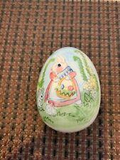 Porcelain Easter Egg - Easter Bunny with fine details - painted
