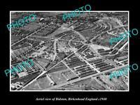 OLD LARGE HISTORIC PHOTO AERIAL VIEW OF BIDSTON BIRKENHEAD ENGLAND c1940