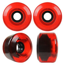 Longboard Cruiser Wheels Set 65mm x 40mm 84a Translucent Red Usa Made