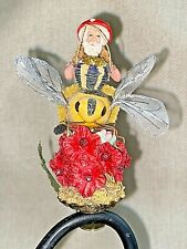 John McRae Seasons Cannon Falls Clip on Gnome Elf Bumblebee Rider Ornament 00006000