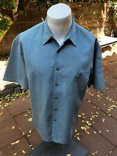 Campia Moda Mens Big and Tall Textured Crepe Short Sleeve Camp Shirt