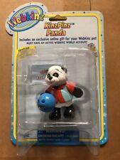 """Webkinz 3"""" Figur, kinzpinz Panda mit geheimen Online Code durch ganz Bowling"""