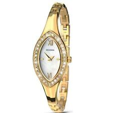 Ladies Sekonda 2100 Crystal Set Mother of Pearl Dial Gold Plated Watch RRP£49.99
