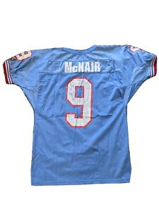 Vintage Steve McNair Houston Oilers Football Jersey Wilson Large #9 Texas
