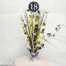 18th anniversaire Spray Pièce maîtresse table décoration noir argent or