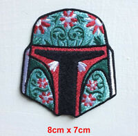 Boba Fett Helmet Star Wars Badge Iron or sew on Embroidered Patch