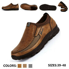 Men's Leather Dress Office Shoes Driving Formal Moccasins Thick Bottom Loafers