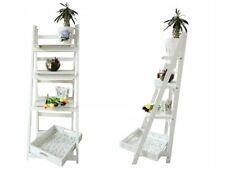 Leiterregal Holz Blumen Treppe Regal Standregal Treppenregal Bücherregal Weiß