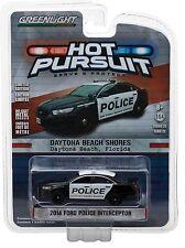 1:64 Greenlight *HOT PURSUIT R22* 2014 Ford Police Interceptor DAYTONA BEACH NIP