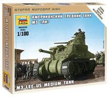 Zvezda        1/100  US M3 Lee Tank (Snap)  ZVE6264