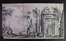 Giovanni Paolo PANINI attr. (1691-1765) - Federzeichnung Tempelanlage mit SPHINX