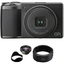 Ricoh GR III Digital Camera with GW-4 Wide Conversion Lens and GA-1 Lens Adapter