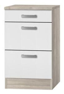 BAYLANGO Kult Küchen-Unterschrank 3 Schubladen »Genf«, weiß, 50 cm breit